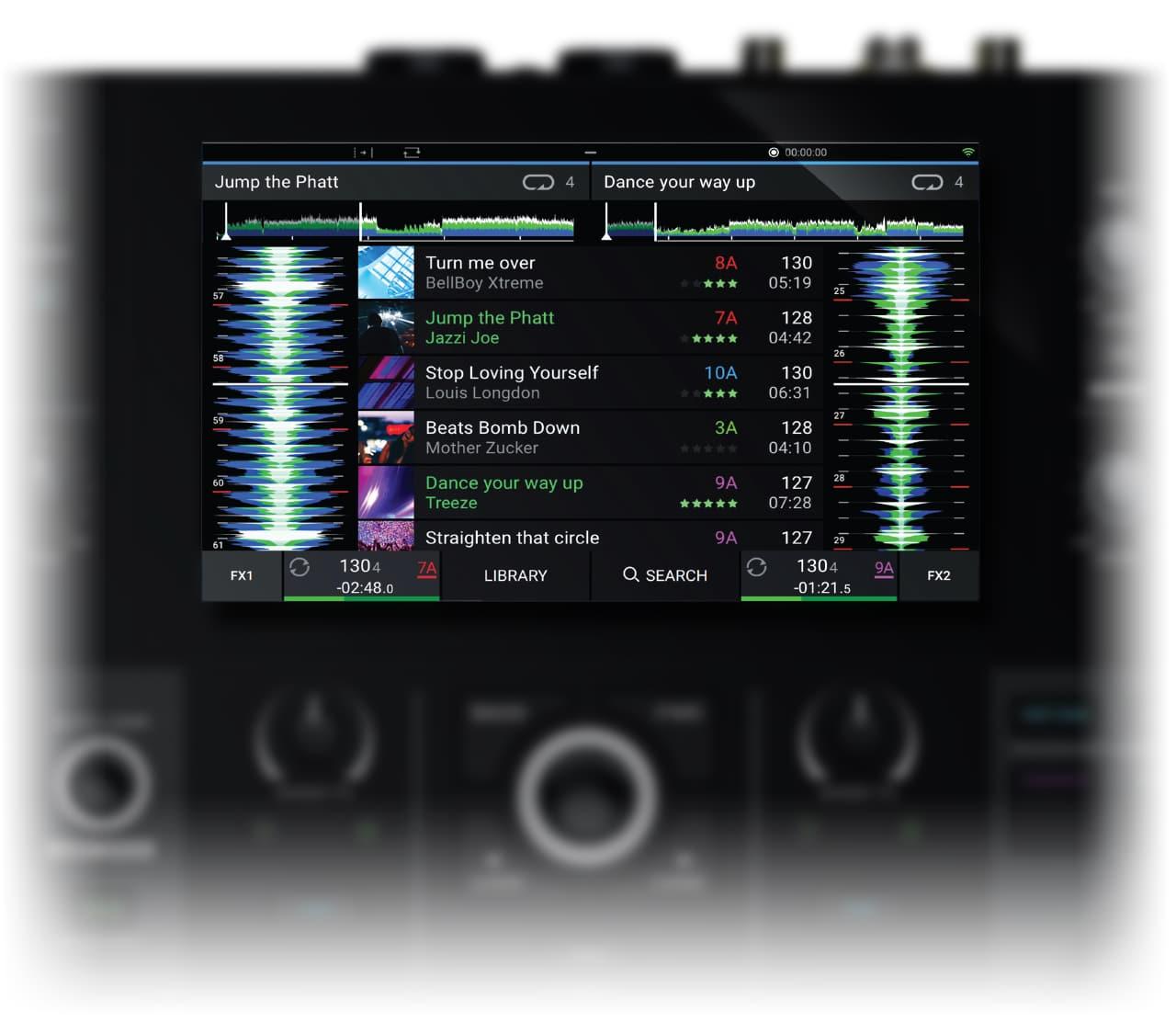 Denon DJ - Prime GO / Pantalla táctil HD de 7 pulgadas con gestos
