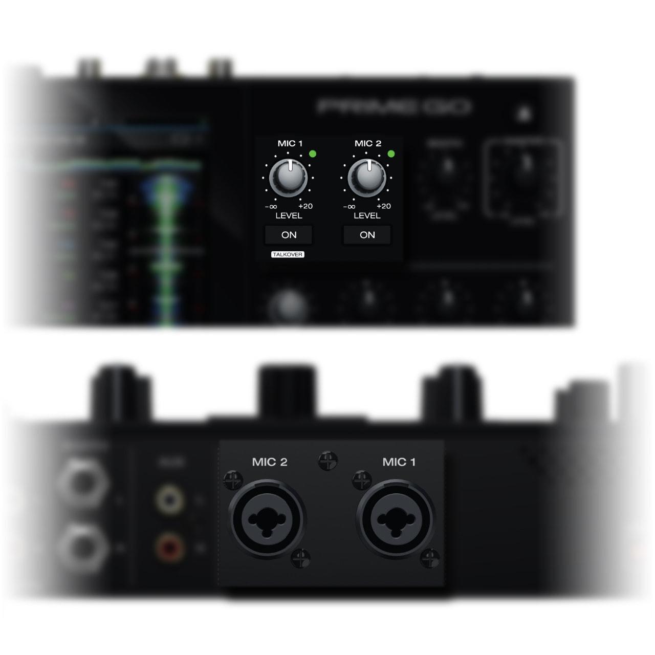 Denon DJ - Prime GO / Entradas de micrófono dual