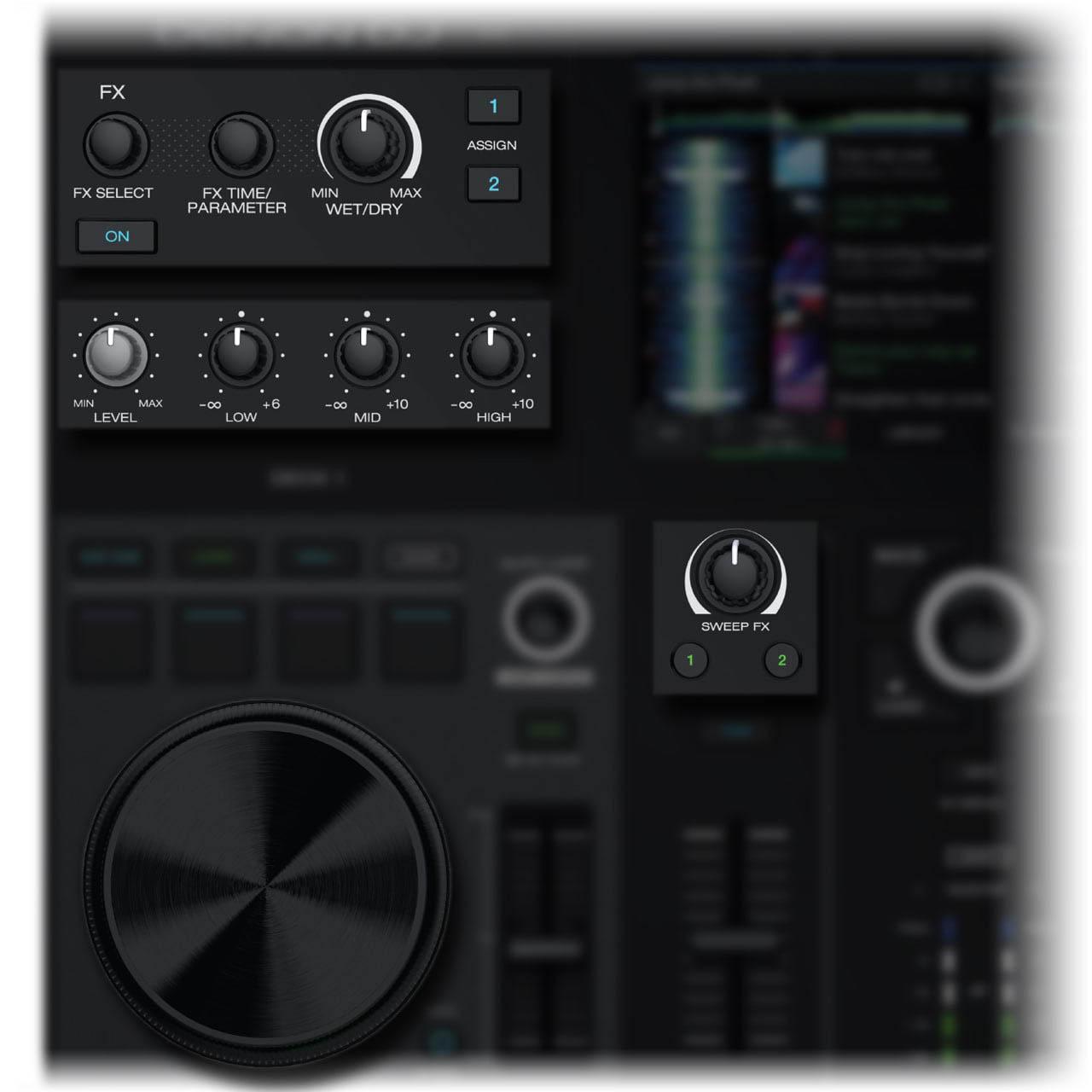 Denon DJ - Prime GO / Touch jog wheels capacitivas, efectos de filtro/barrido