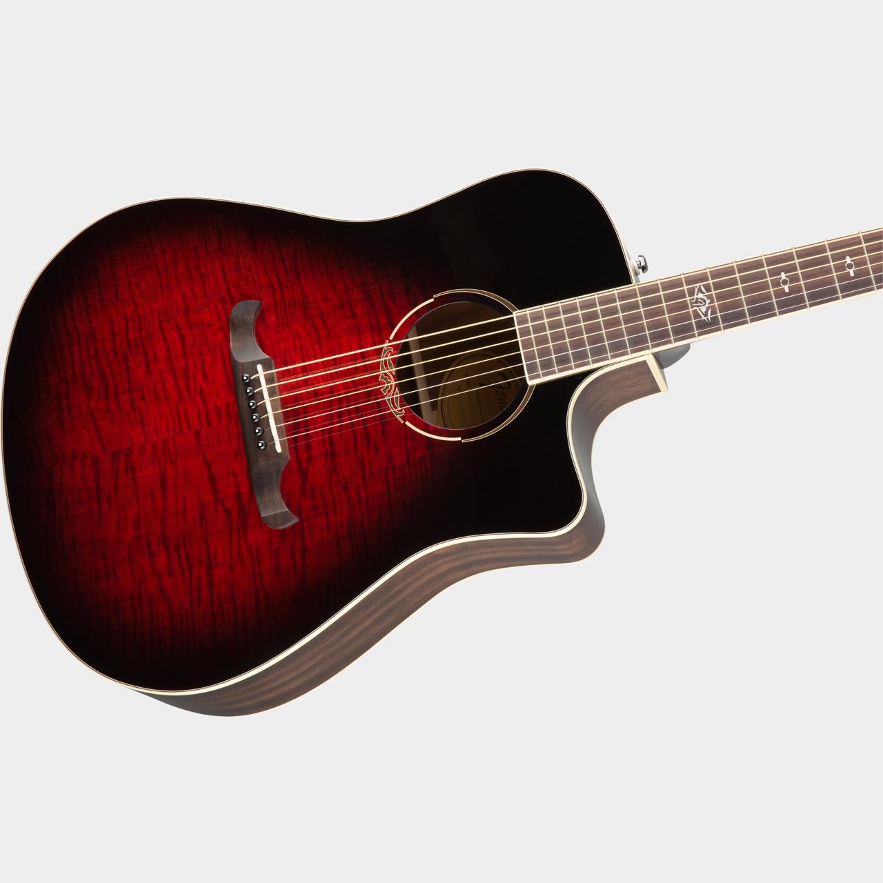 Fender T-Bucket 300CE Flame Maple Trans Cherry Burst